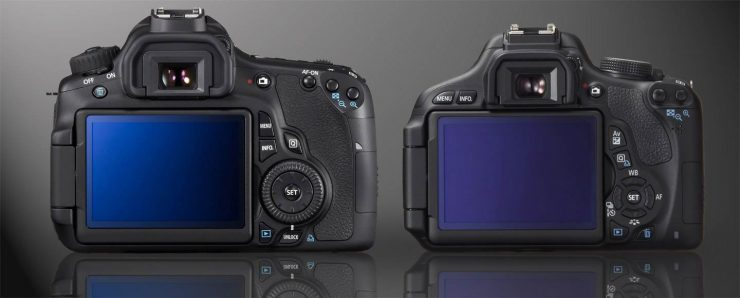 Canon 60D and T3i Articulated LCD, Rear View