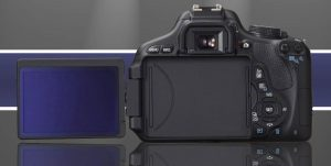Rear view of T3i, articulated LCD