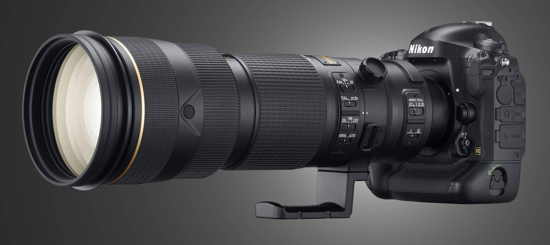 Nikon D4 with Telephoto Lens and Extender