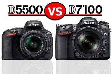 Nikon D5500 vs D7100