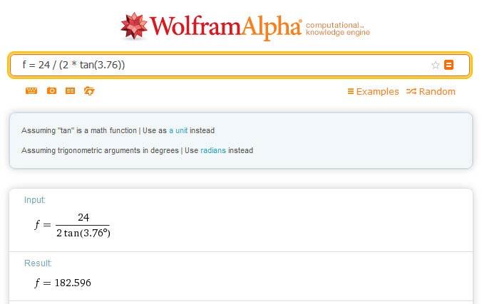 Wolfram Alpha interface