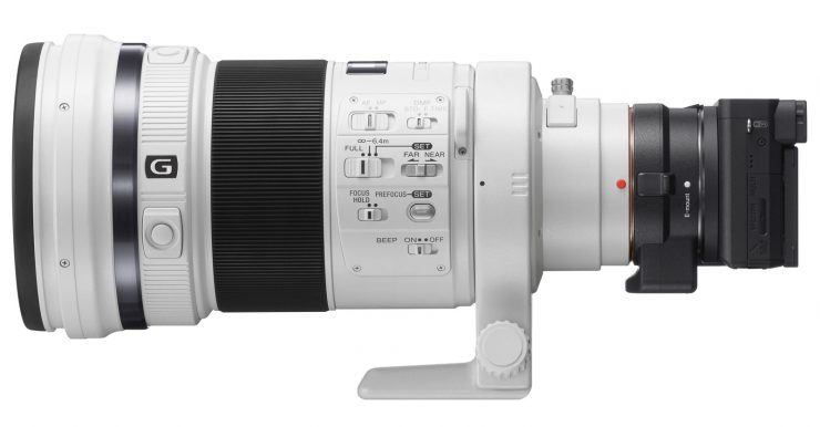 The Sony a6500 adapted to the Sony 300mm F/2.8G II Stabilized Lens