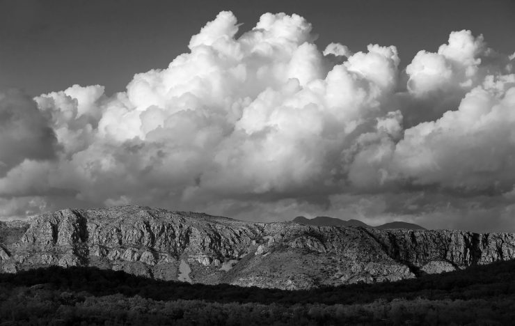 Storm clouds over Bosnia, near Dubrovnik