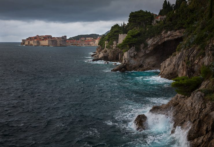 Stormy weather in Dubrovnik, from south of the city