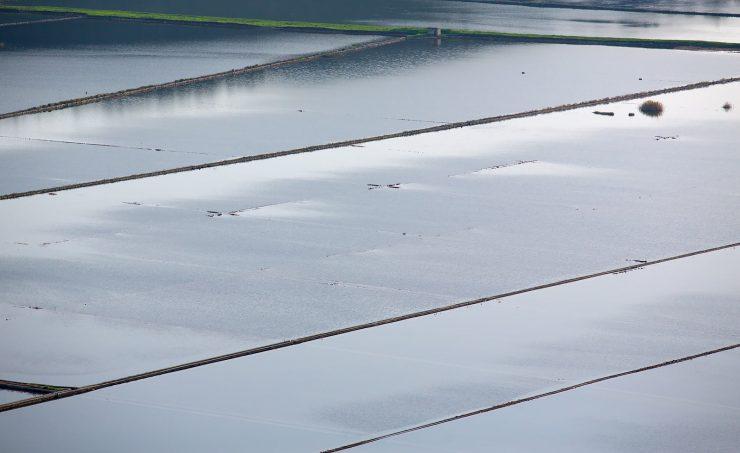 Ston Croatia salt evaporation pools.