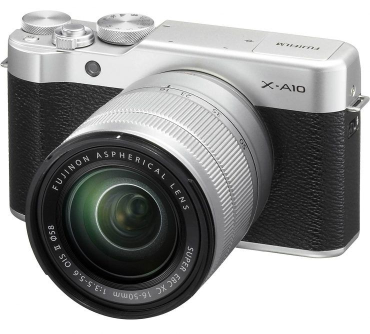 The Fuji X-A10 with 16-50mm OIS lens.