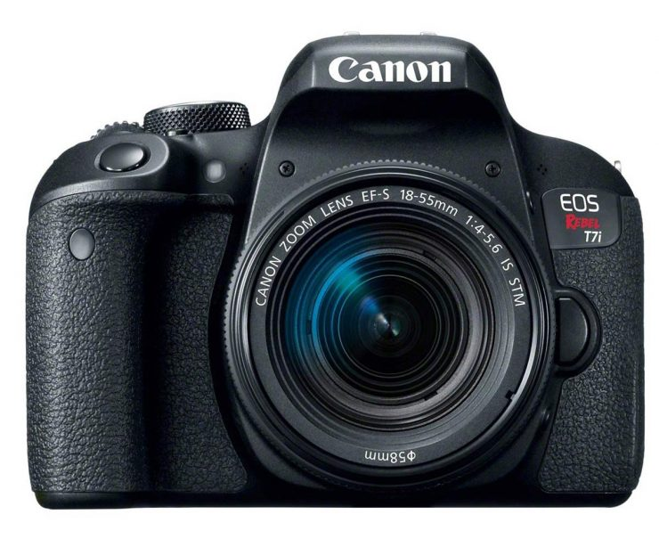 The Canon T7i with the new18-55 IS STM lens