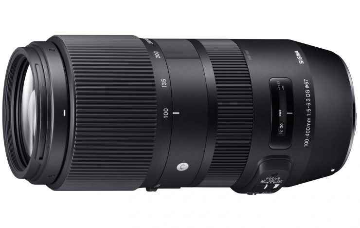 The Sigma 100-400mm f/5.6-6.3 OS HSM Contemporary series lens.