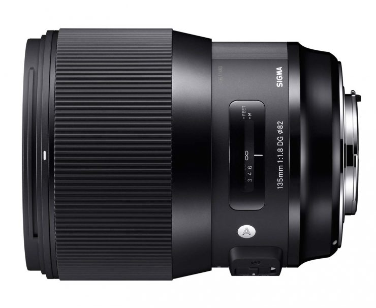 The Sigma 135mm f/1.8 HSM ART series lens.