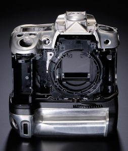 Magnesium body frame of Nikon D7000 and Grip
