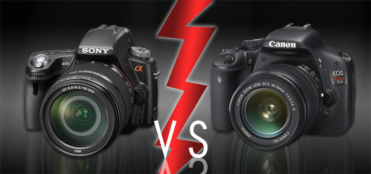 Sony Alpha a55 vs Canon T2i