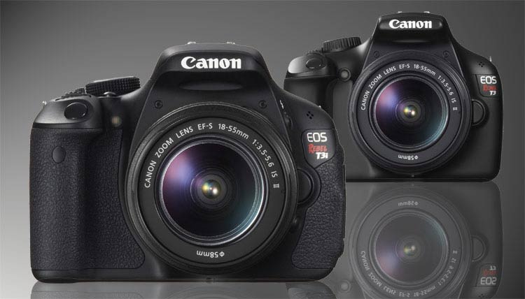 Canon Rebel T3i and Rebel T3