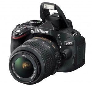 Nikon D5100 With Flash Raised