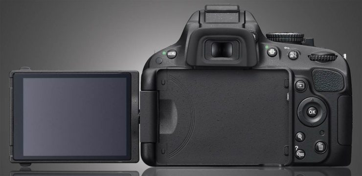 D5100 Articulated LCD Open rear view