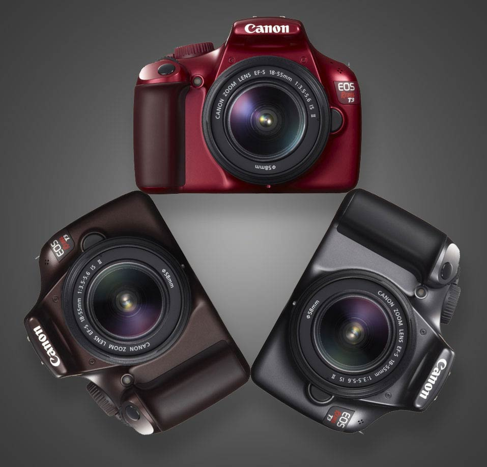 Canon t3 in three new colors
