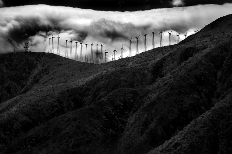 Windmills Against Clouds by Cole Thompson