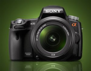Sony a35 Front View