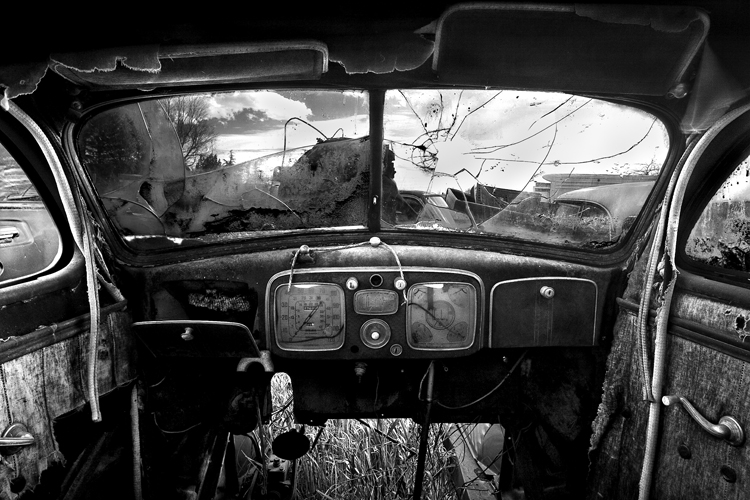 Old Car Interior by Cole Thompson