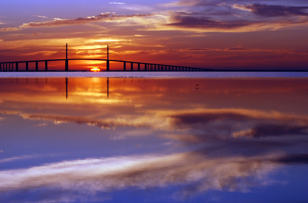 The Sunshine Skyway Bridge from Fort DeSoto