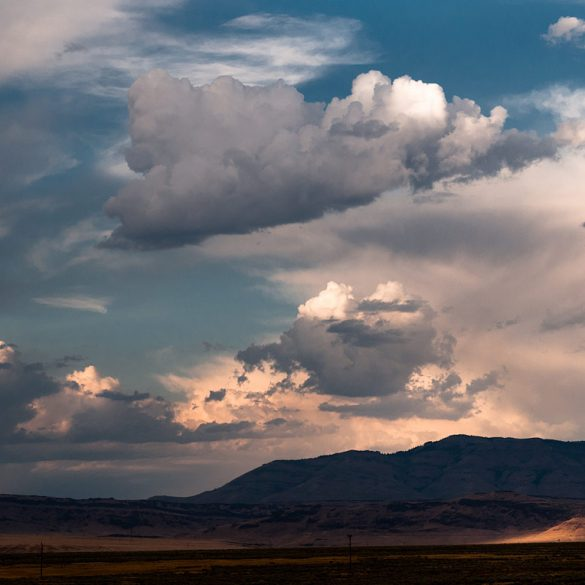 Wyoming Cloudy Landscape