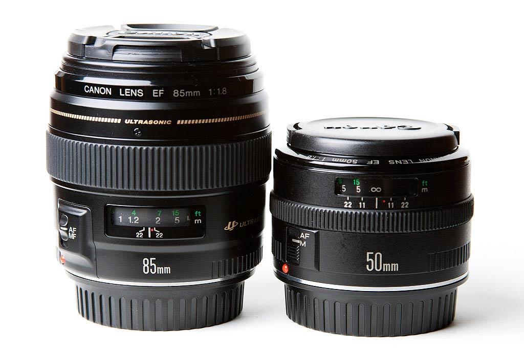 Canon 85mm f/1.8 & 50mm f/1.8 Mark I