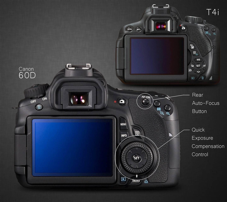 Canon 60D vs T4i / Exposure Compensation and Rear Focus Button