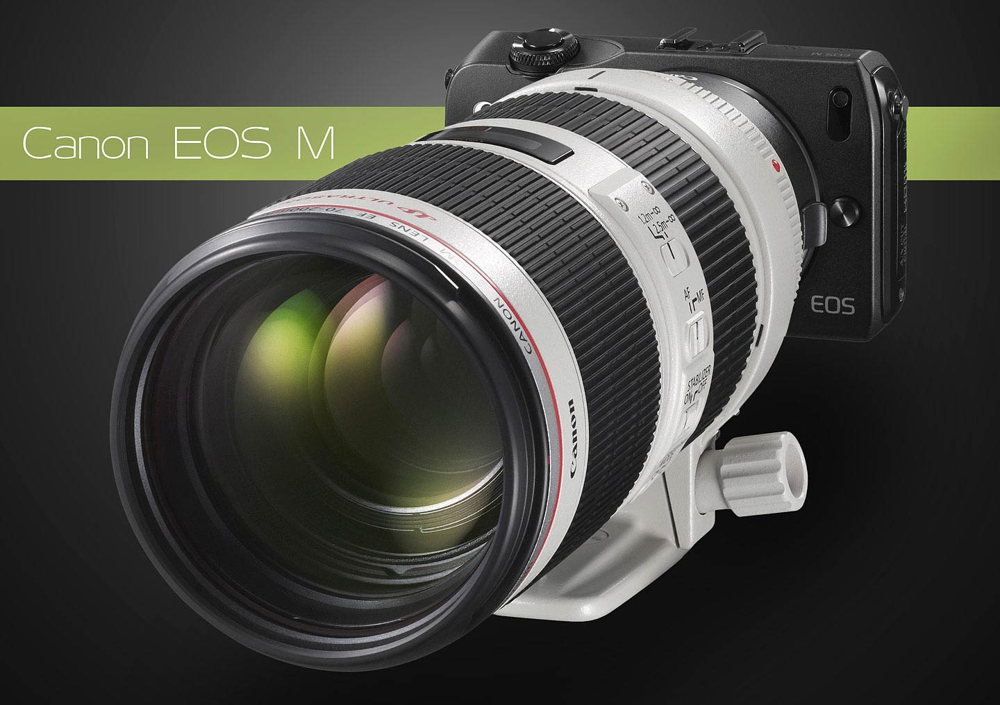 Canon EOS M with Adapter Mount and 70-200mm f/2.8L IS II
