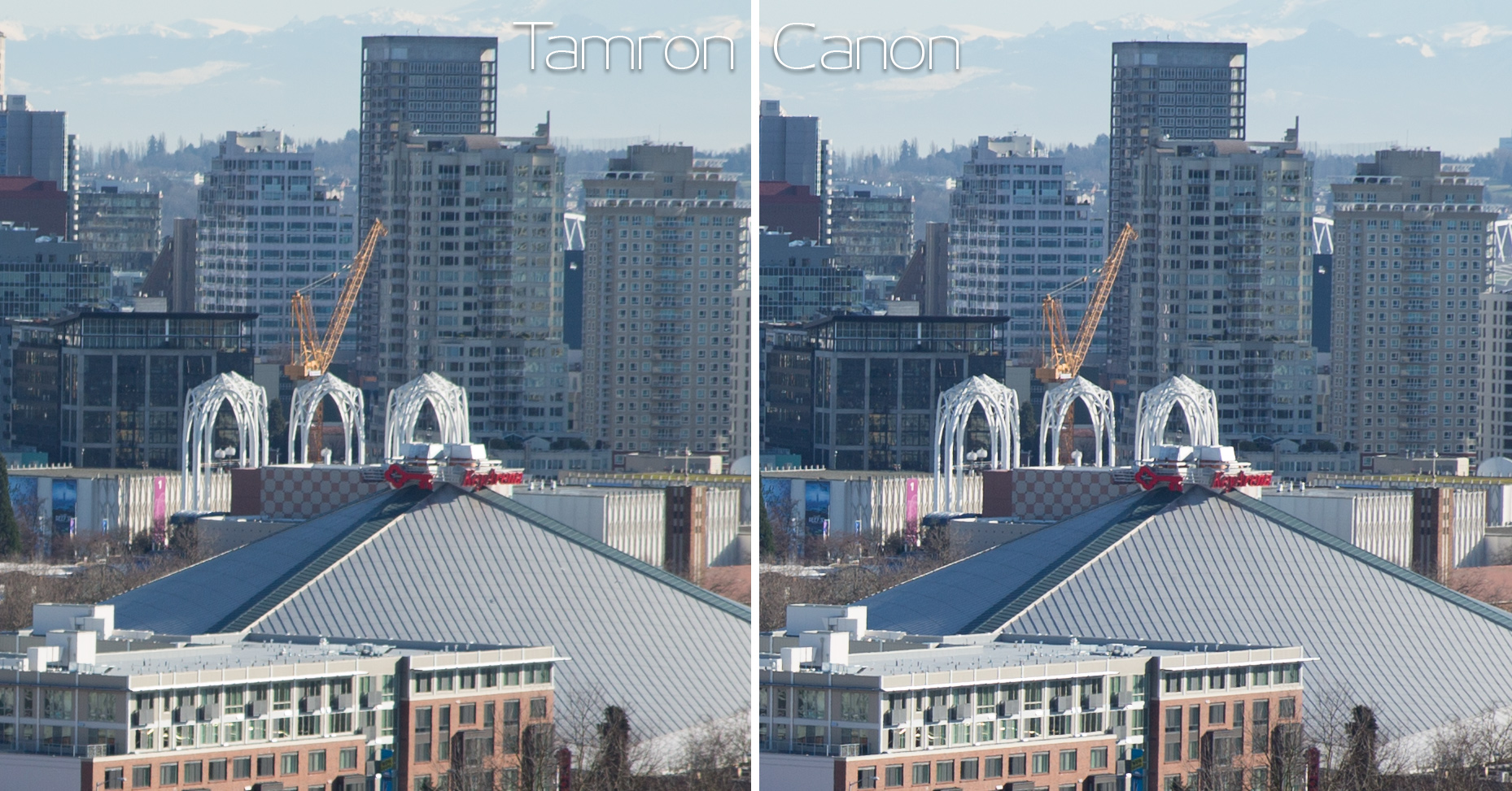 Canon and Tamron comparison at 70mm f/2.8