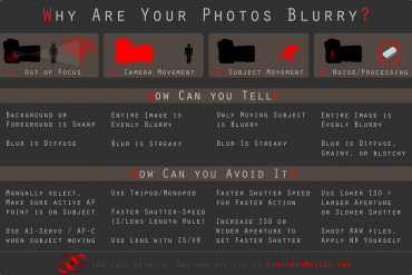Four Reasons Your Photos are Blurry, And How to Avoid Them