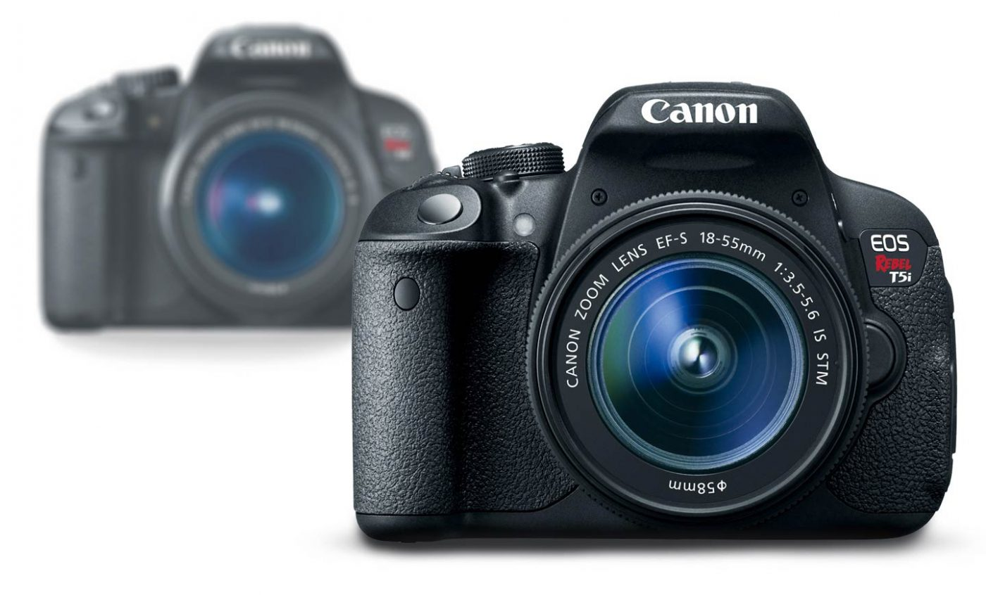 Canon T5i and T4i in background