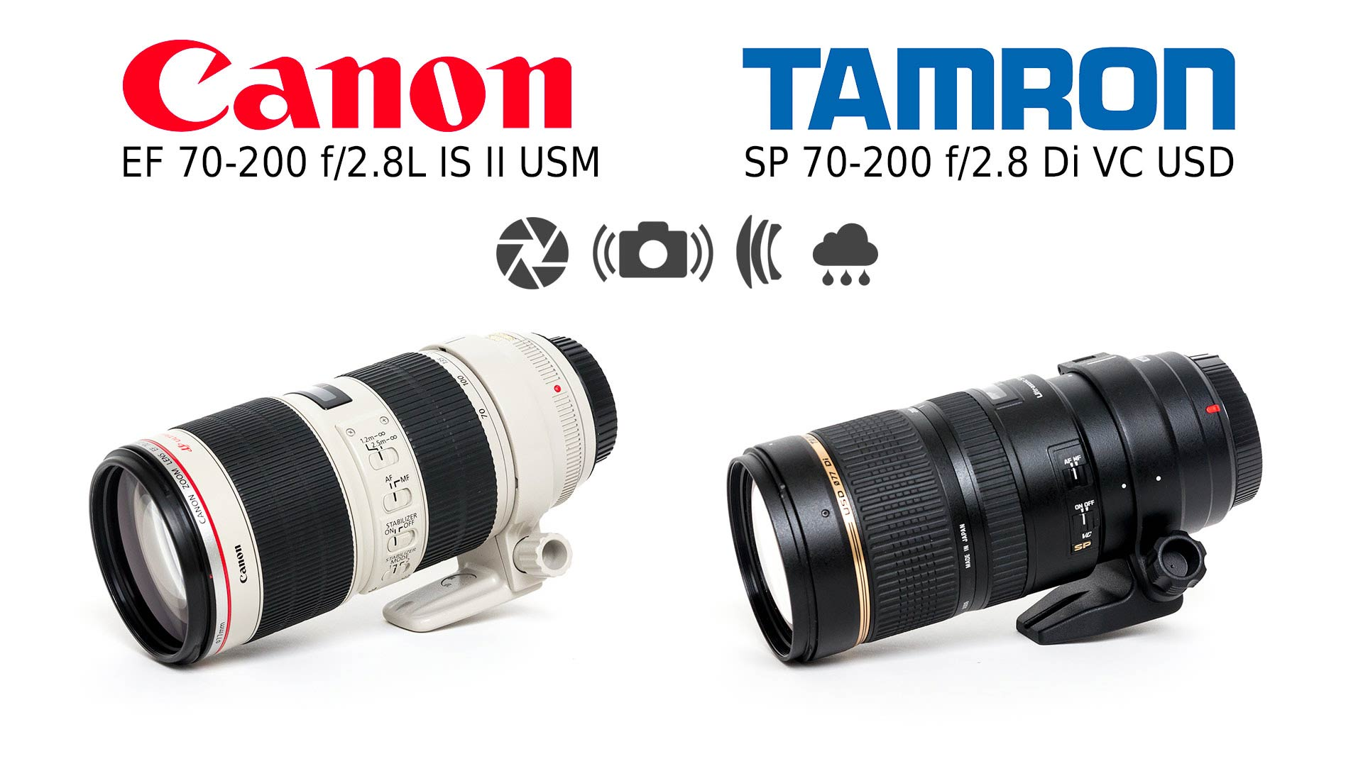 Lens Comparison: Tamron SP 70-200 f/2.8 Di VC USD vs Canon EF 70-200 ...