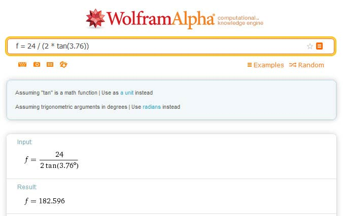 Wolfram Alpha interface