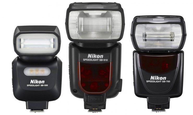 Nikon SB-910, SB-700, and SB-500