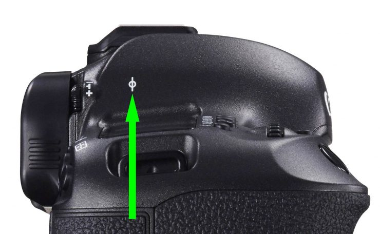 focal plane marker on Canon 5DS