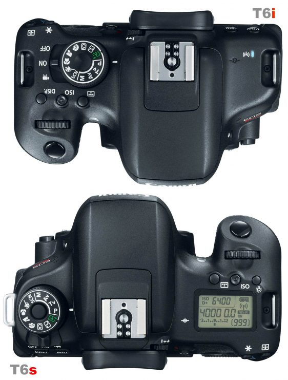 Canon T6i and T6s Top Panel LCD