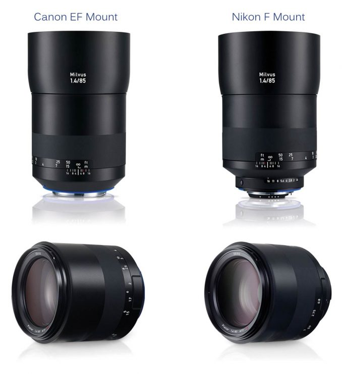 The Zeiss Milvus 85mm f/1.4, for Canon and Nikon