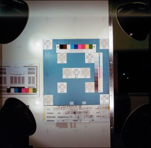 A few of the rolls of film also include shots of a color calibration chart, like this one.