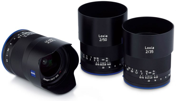 All three Zeiss Loxia lenses.