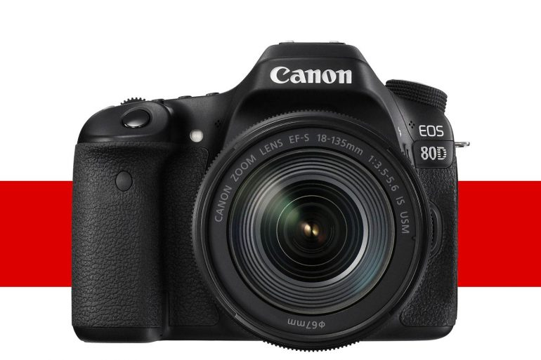 Canon 80D, front view