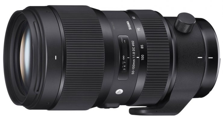 The Sigma 50-100 f/1.8 ART, without lens hood.