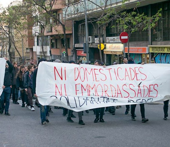 Barcelona, Spain, protest marches on Wednesday