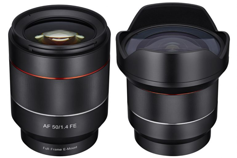 Samyang 50mm f/1.4 and 14mm f/2.8 Autofocus Lenses for Sony