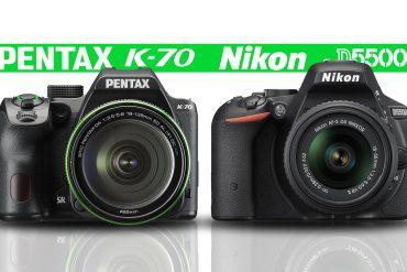 Pentax K-70 vs Nikon D5500 Banner