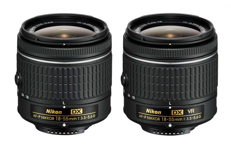 The two new AF-P 18-55mm f/3.5-5.6 lenses.