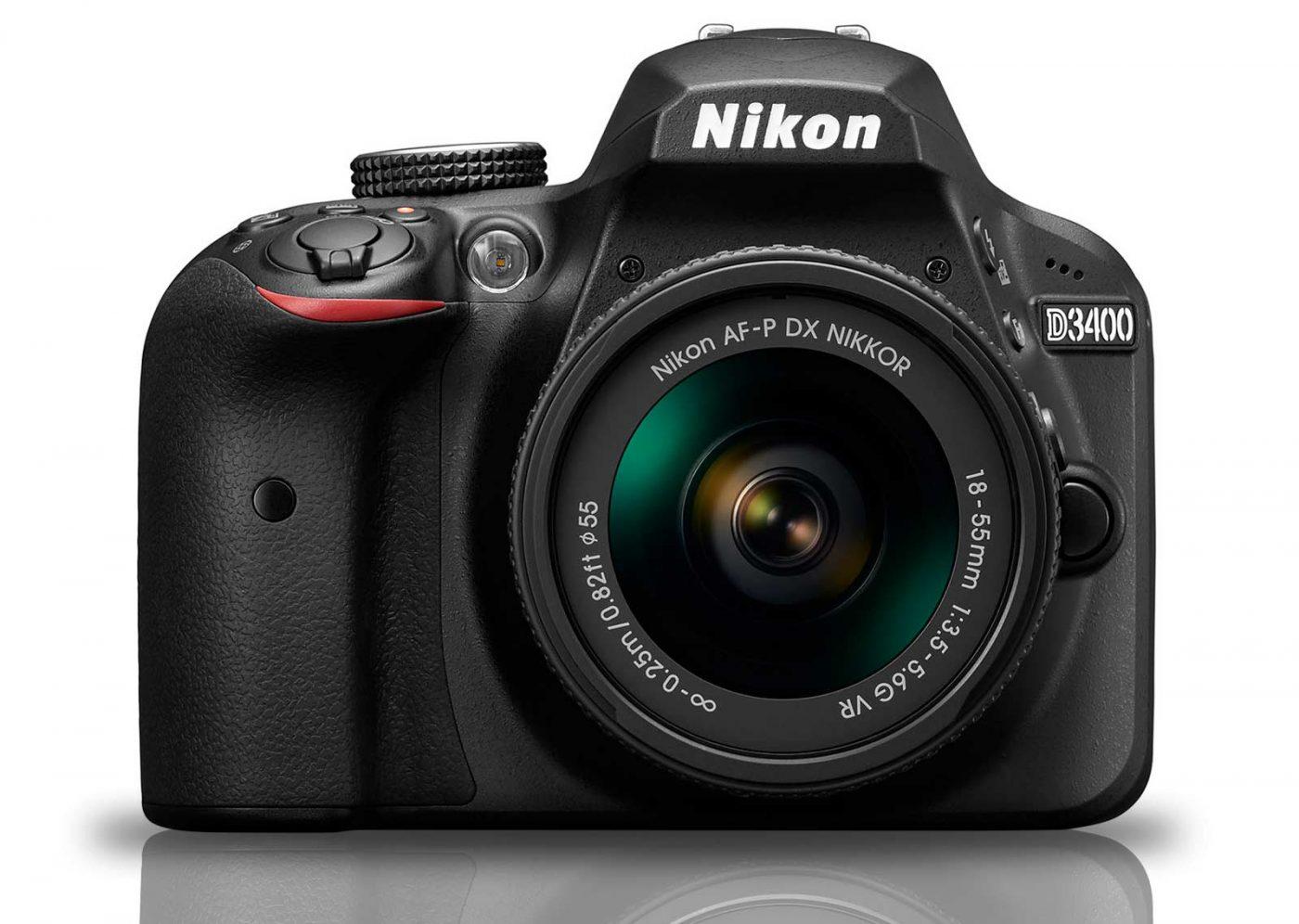 Nikon D3400 SLR with 18-55 AF-P Lens