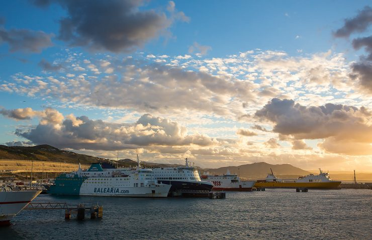 Ferries at the Tanger Med port