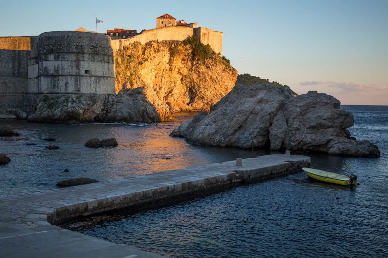 The Dubrovnik city walls from the northern harbor
