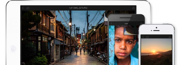Lightroom Mobile works on Android and iOS devices.