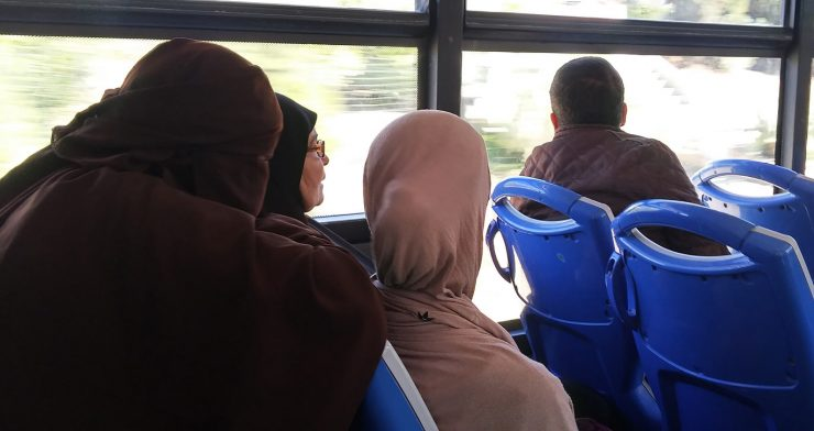 Women on the bus to Tanger Med