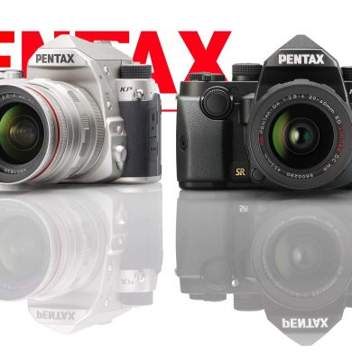 Pentax KP in silver and black